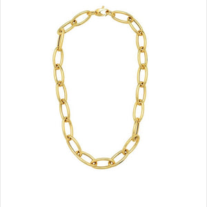 14KT Gold Leila Jumbo Link Chain Necklace, NEW