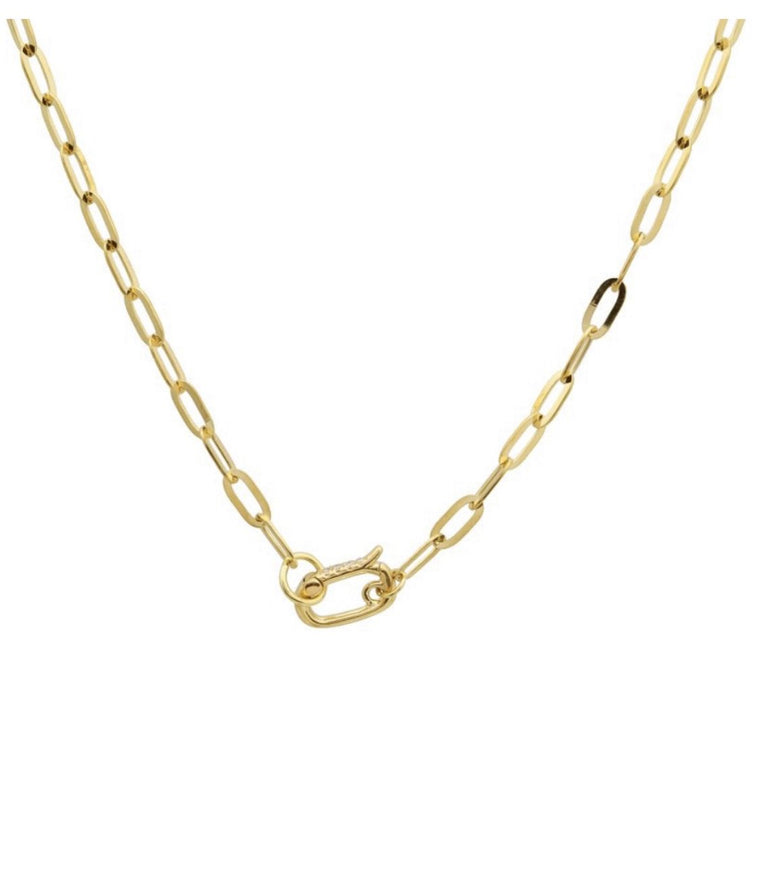 14KT Gold Chain with Diamond Clasp