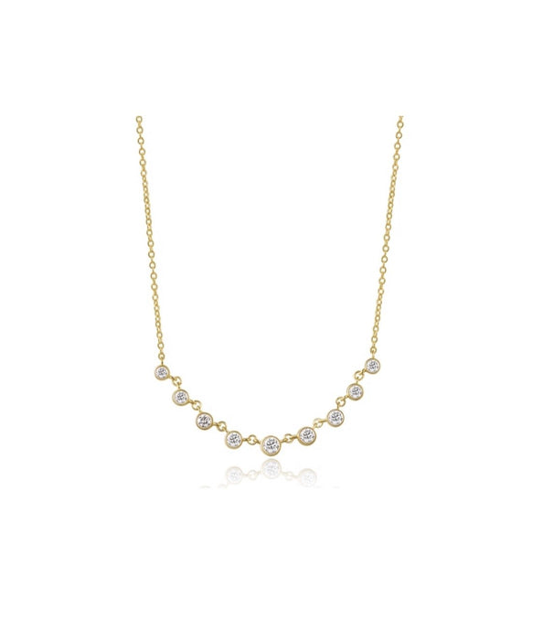 14KT Gold Diamond Alara Necklace, NEW