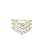 14KT Gold Diamond Lani Luxe Ring, NEW