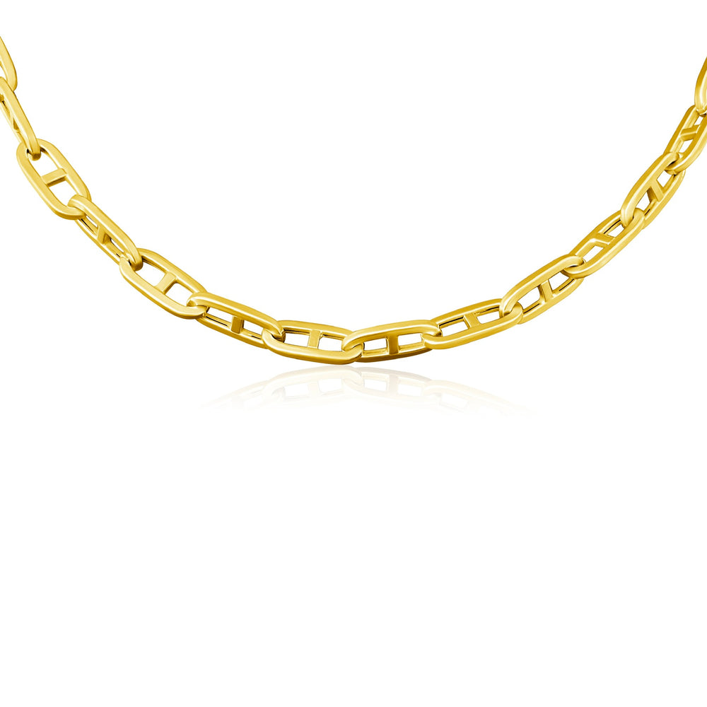 14KT Gold Carolina Link Chain Necklace, NEW
