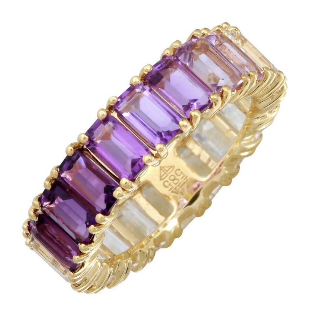 14KT Gold, Purple Ombré Ring