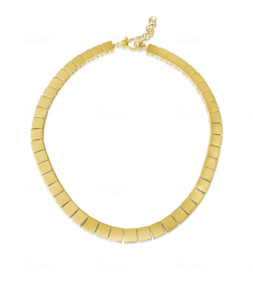 14KT Gold Jackie Statement Necklace, NEW