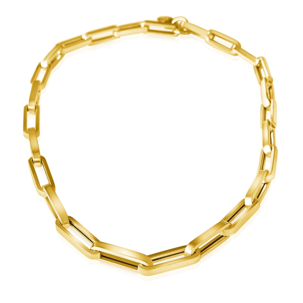 14KT Gold Jumbo Paperclip Link Chain Necklace, NEW