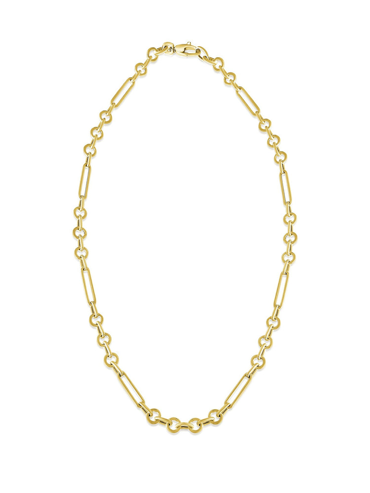 14KT Gold Francois Multi Link Chain Necklace, NEW