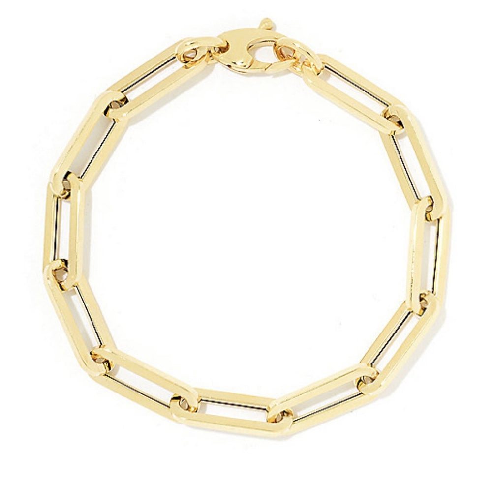 14KT Gold Medium Link Chain Bracelet, NEW