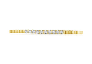 14KT Gold Diamond Ana Flexible Cuff Bracelet, NEW