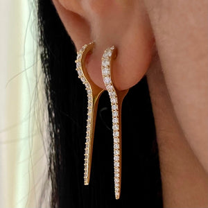Load image into Gallery viewer, 14KT Gold Diamond Giuletta Earring, NEW