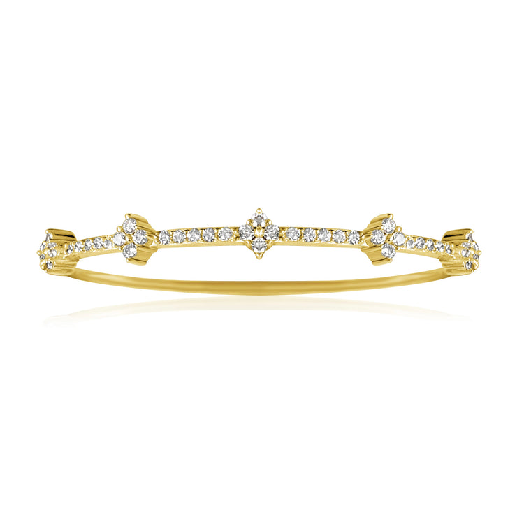 14KT Gold Diamond Missy Bangle Bracelet, NEW