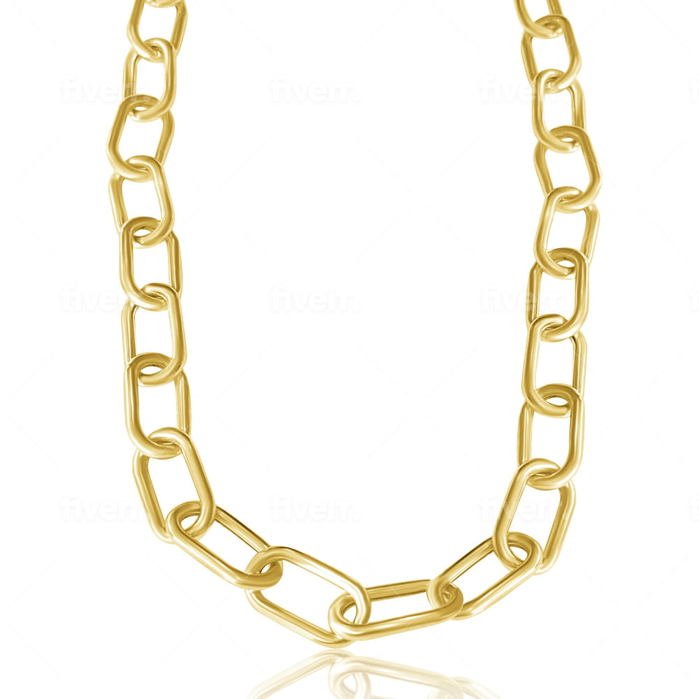 14KT Gold Adele Link Chain Necklace, Back in Stock!