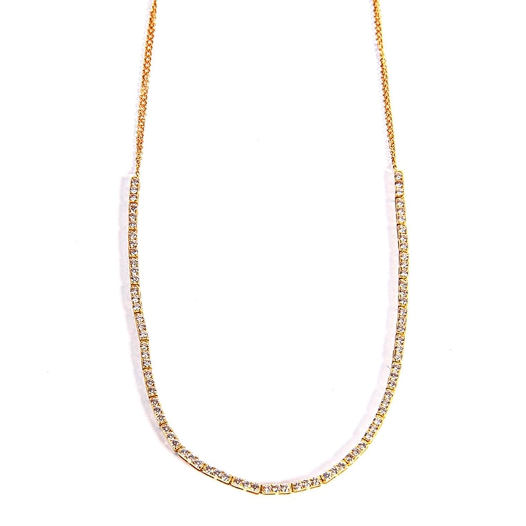 14KT Gold, 1 ct Diamond Tennis Necklace, Best Seller!