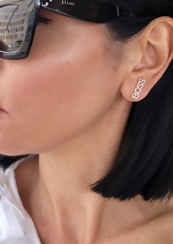 14KT Gold BOSS Earclimber Earring, NEW - DilaraSaatci