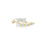 14KT Gold Diamond Twist Ring, NEW