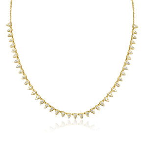 14KT Gold Diamond Queen Necklace, Best Seller!