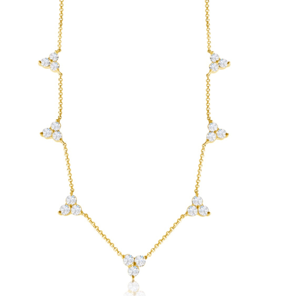 14KT Gold Diamond Cindy Necklace, NEW