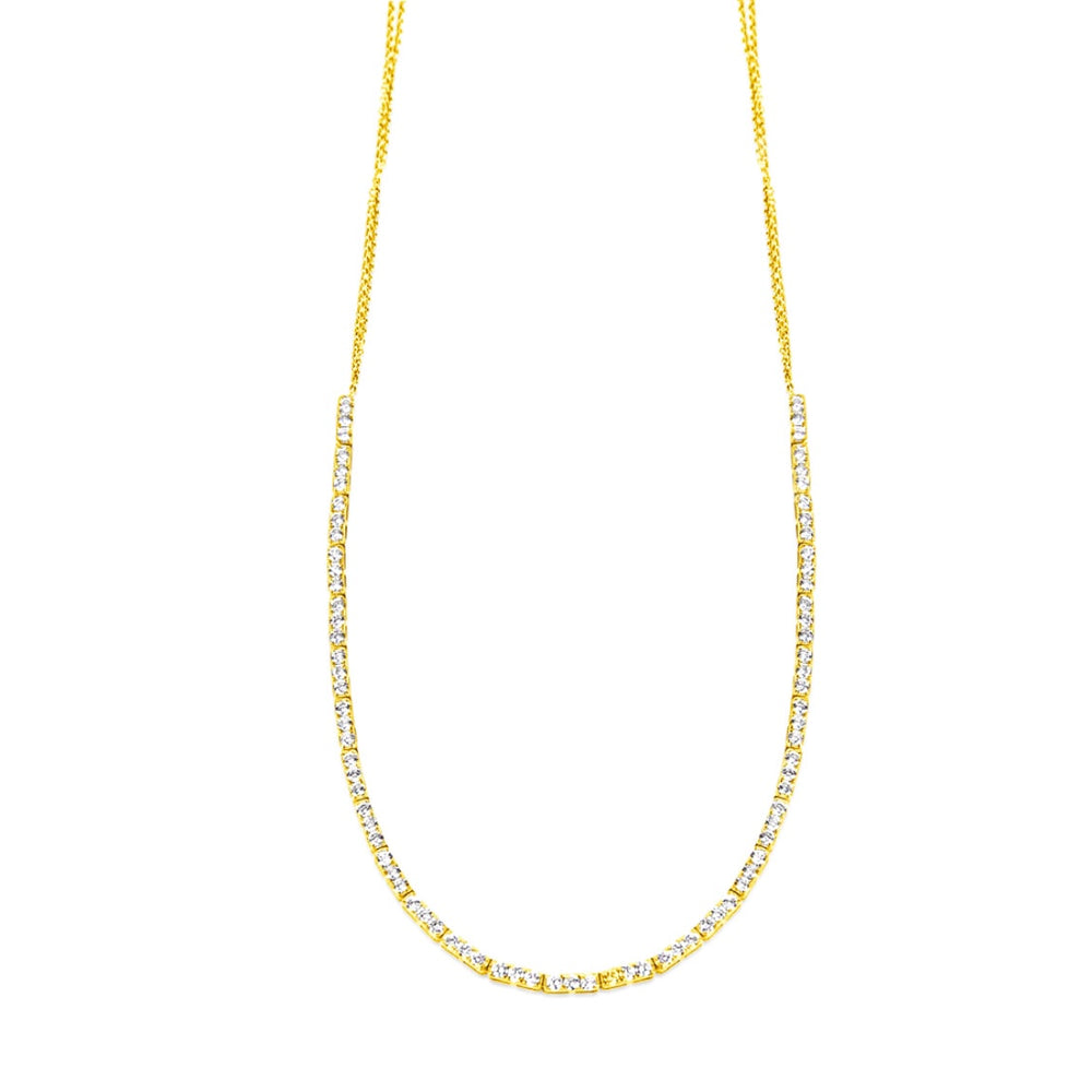 14KT Gold, 2.2 ct Diamond Tennis Necklace, BEST SELLER! Back in Stock