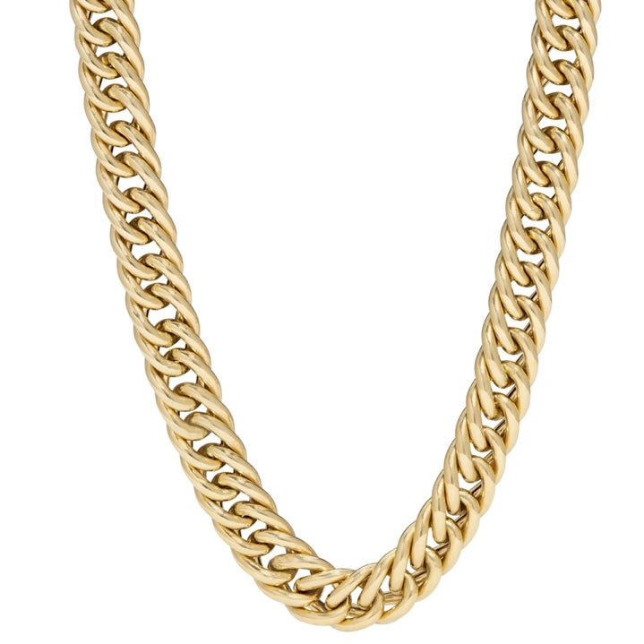 14KT Gold Alex Cuban Link Chain Necklace, NEW