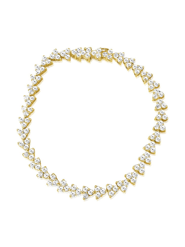 14KT Gold Diamond Veronique Tennis Bracelet, NEW