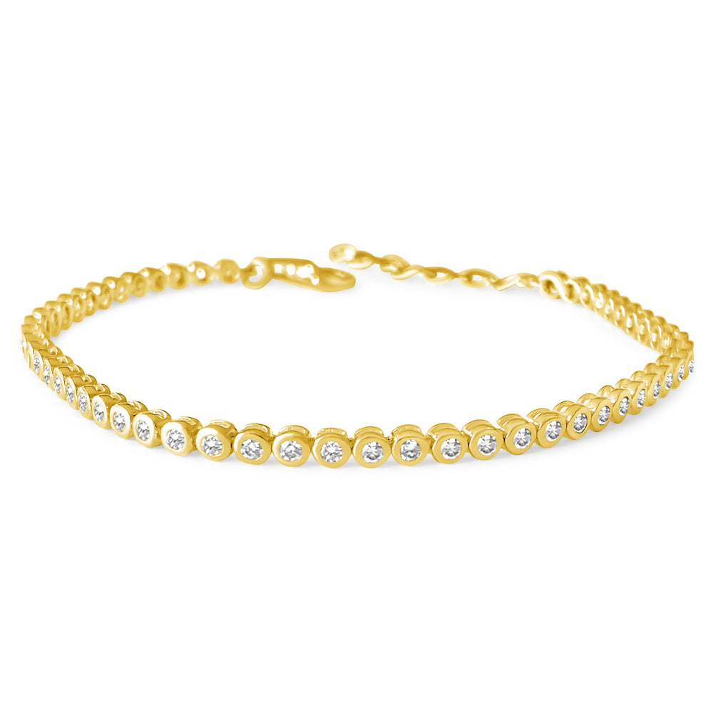 14KT Gold Diamond Emma Tennis Bracelet, NEW