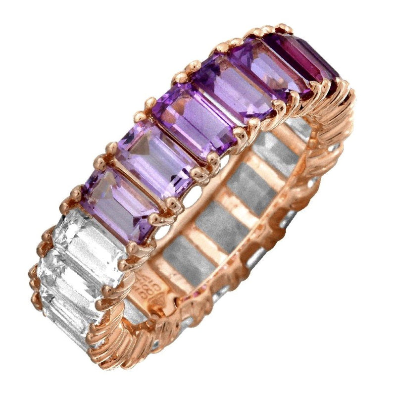 14KT Gold, Purple Ombré Ring, NEW BEST SELLER