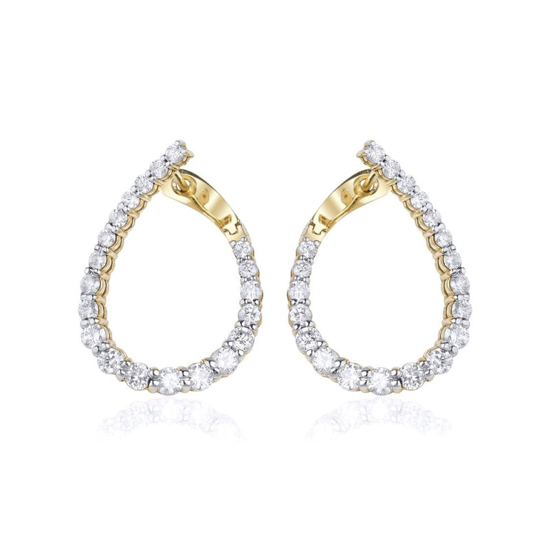 14KT Gold Diamond, LUXE, Leila Earrings, NEW