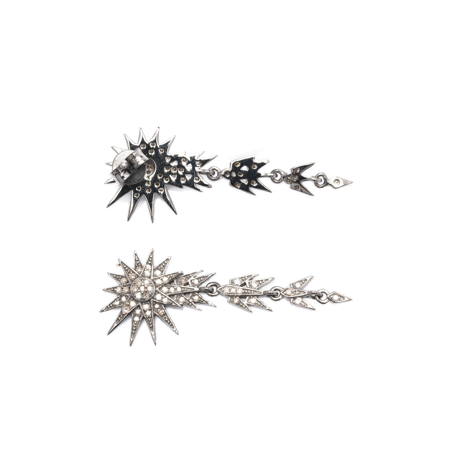 Star Comet Diamond Earrings