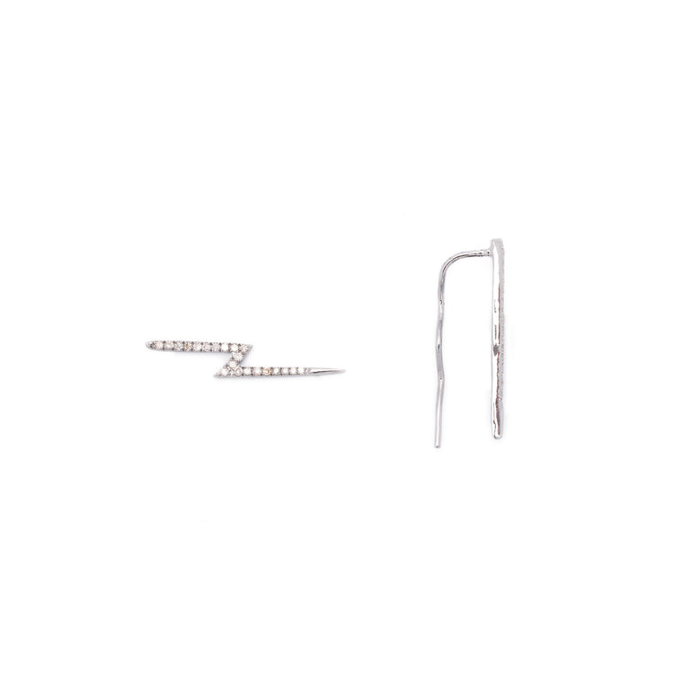 Diamond Lightning Ear Crawler/Earwire Earrings
