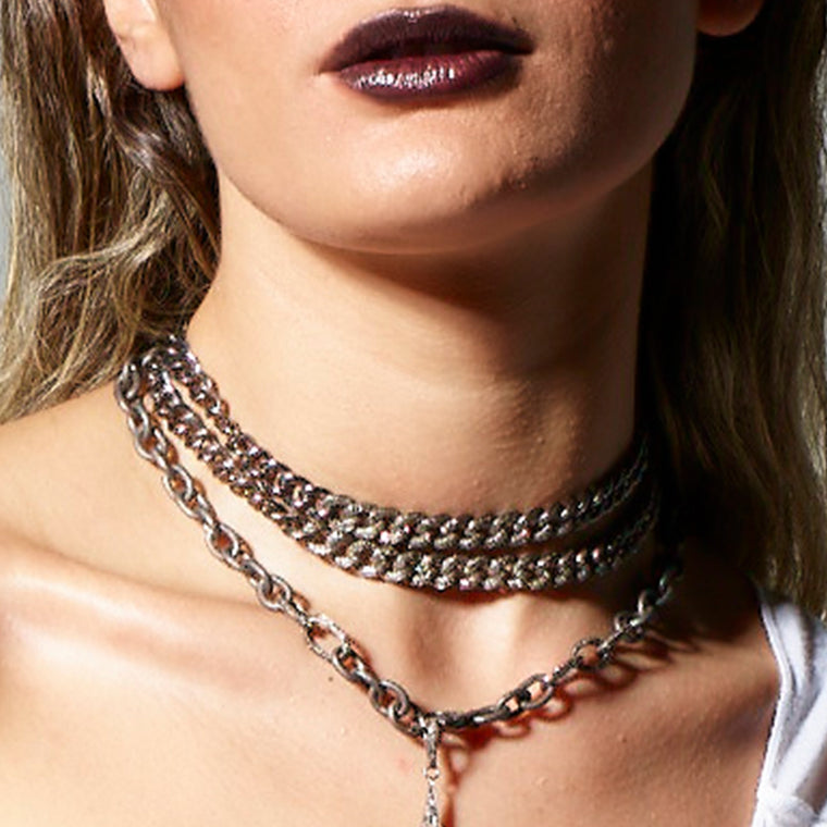 Diamond Link Choker Necklace