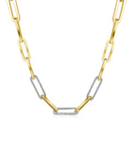 14KT Gold Diamond Luxe Link Necklace, NEW