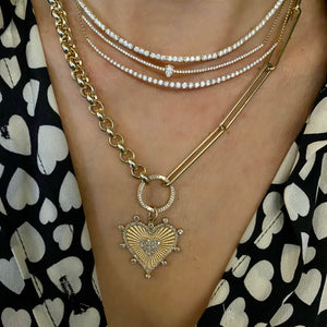 Load image into Gallery viewer, 14KT Gold Diamond Gail Bar Necklace, Bestseller!