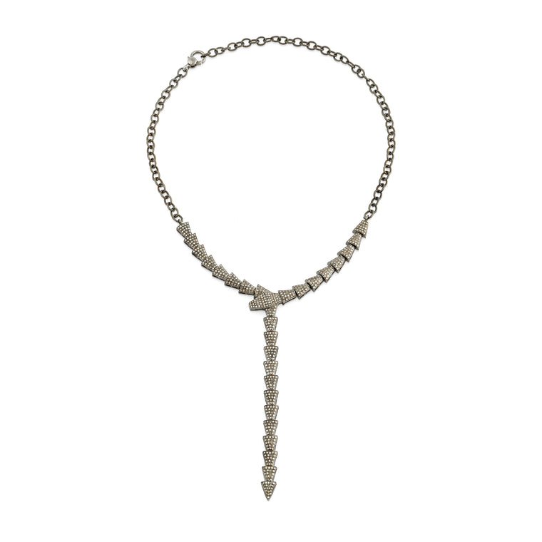Diamond Snake Statement Necklace, NEW