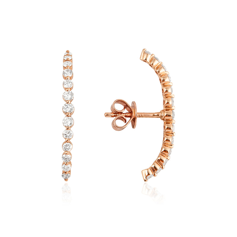 14KT Gold Diamond Ear Climber Earring, NEW - DilaraSaatci