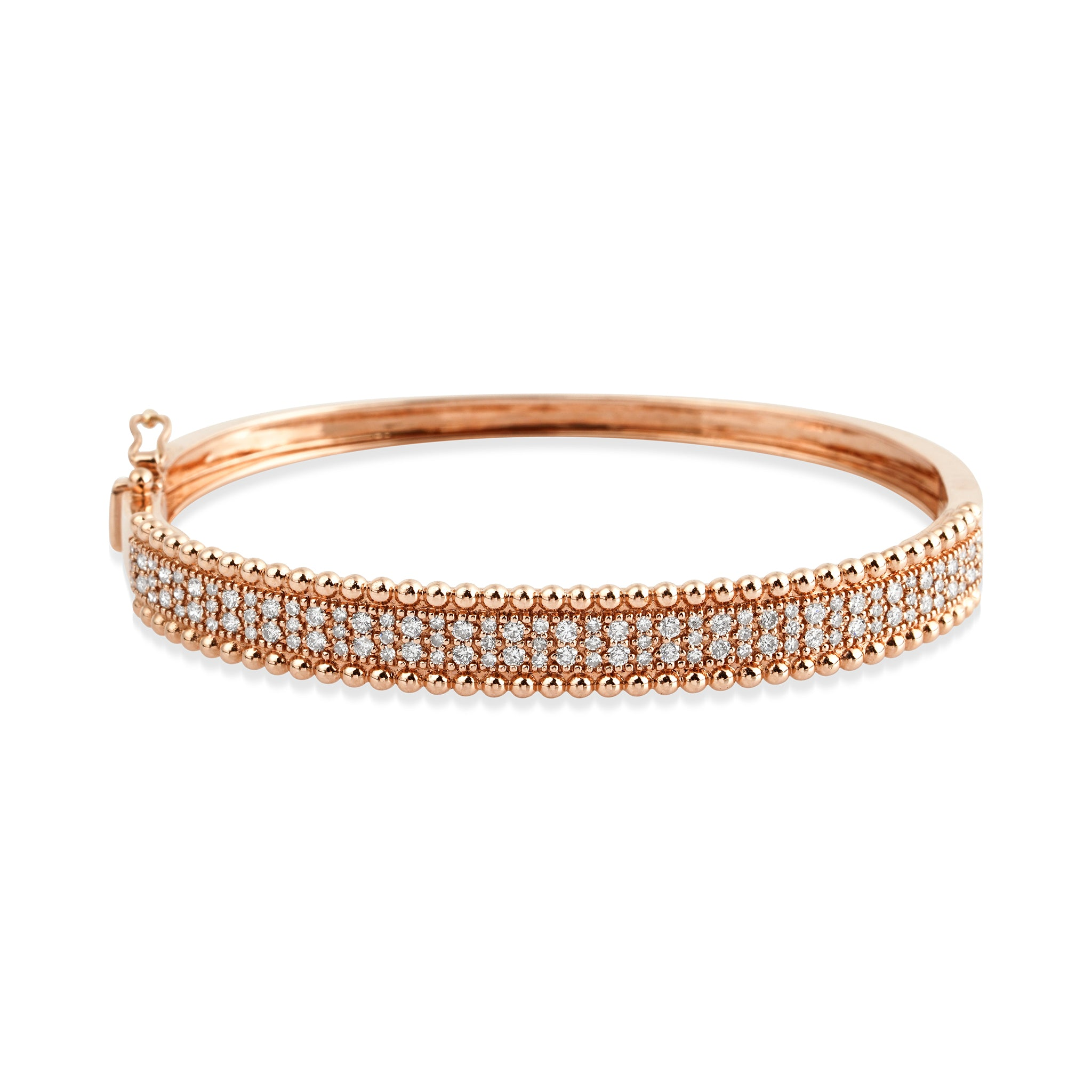 14KT Rosegold Diamond LUXE Bangle Bracelet, NEW - DilaraSaatci