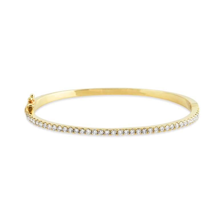 14KT Gold Diamond Essential Bangle Bracelet, NEW