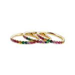 14KT Gold Rainbow Multi Sapphire Eternity Ring, NEW - DilaraSaatci