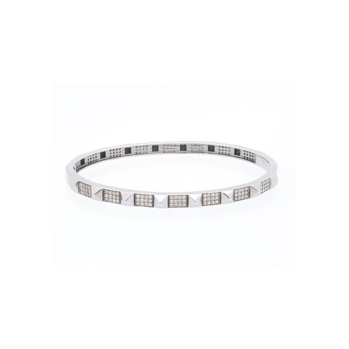 Spike Full Pave Diamond Bangle - DilaraSaatci