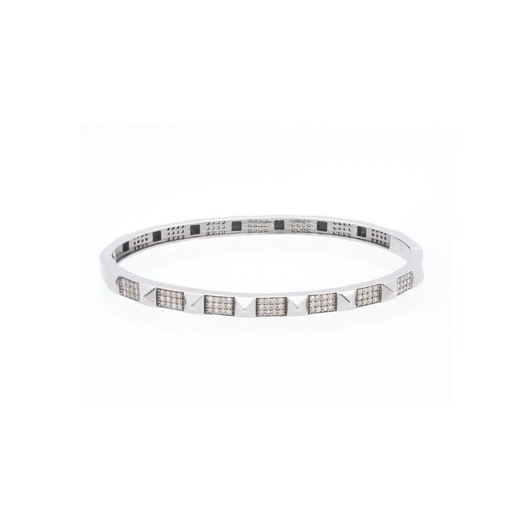 Spike Full Pave Diamond Bangle