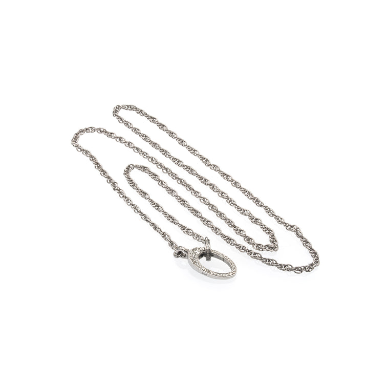 Chain With Elegant Double Sided Diamond Clasp