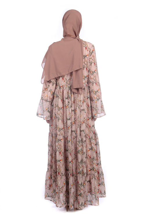 Pretty Pink Floral Abaya/Dress - Samimi