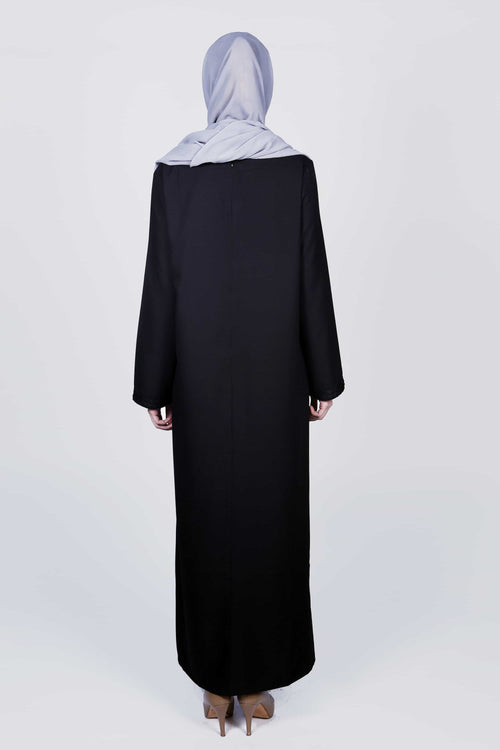 Intimate Black Sheer Abaya/Dress - Samimi