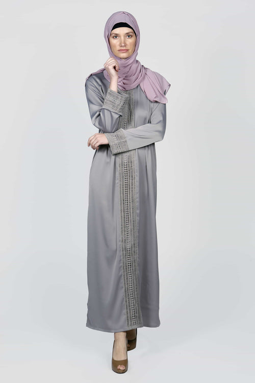 Independent Grey Abaya/Dress - Samimi