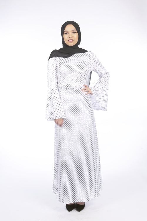 Polka dot dress/abaya - Samimi