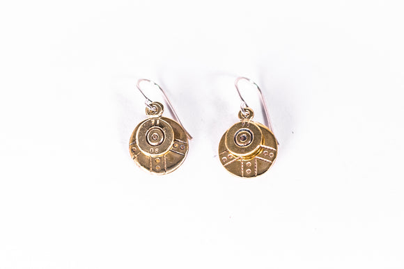 APOPO Ammo Bullet Layered Circle Drop Earrings