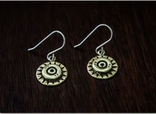 APOPO Ammo Bullet Layered Round Ray Drop Earrings