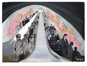 The Escalator - 100x76cm Limited Edition Print