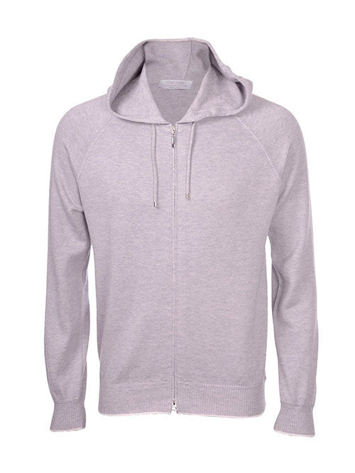 Cotton Cashmere Hoodie - Lysegrå