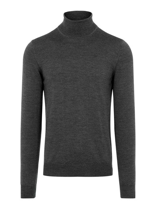 J.Lindeberg - Lyd Merino Turtleneck Sweater - Dark Grey Melange