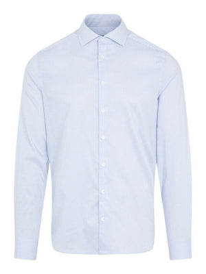 Non Iron Twill Superslim Shirt - Ice Flow