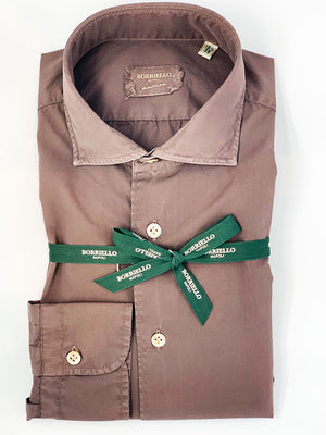 Borriello - Skjorte - Borriello Brown Shirt - Brun - Herre
