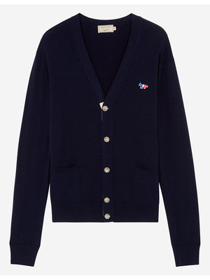 Maison Kitsuné Cardigan Tricolor Fox Patch Navy